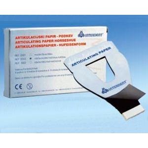 Artikulační papír podkova modrá 6x10 listů