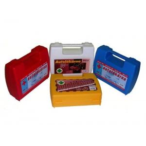 Autolékárnička v praktickém plastovém kufříku s držadlem